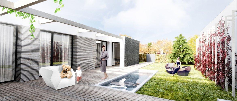 **Žite vo vlastnom dome.** Vychutnávajte si rána na príjemnej terase.